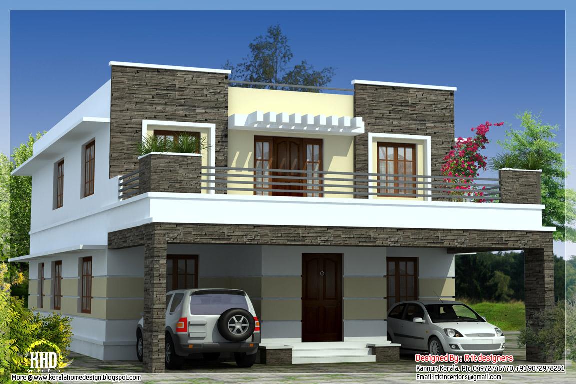 bedroom modern flat roof house kerala home design floor plans planhouse house plans home plans plan designers simple planhouse