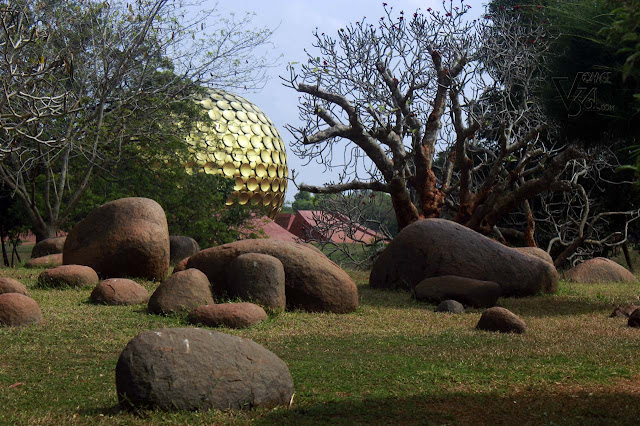 First glimpses of Matrimandir