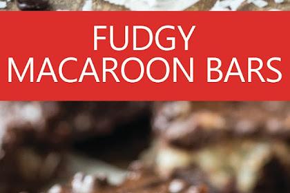 FUDGY MACAROON BARS
