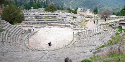 Turismo en Delfos, Grecia