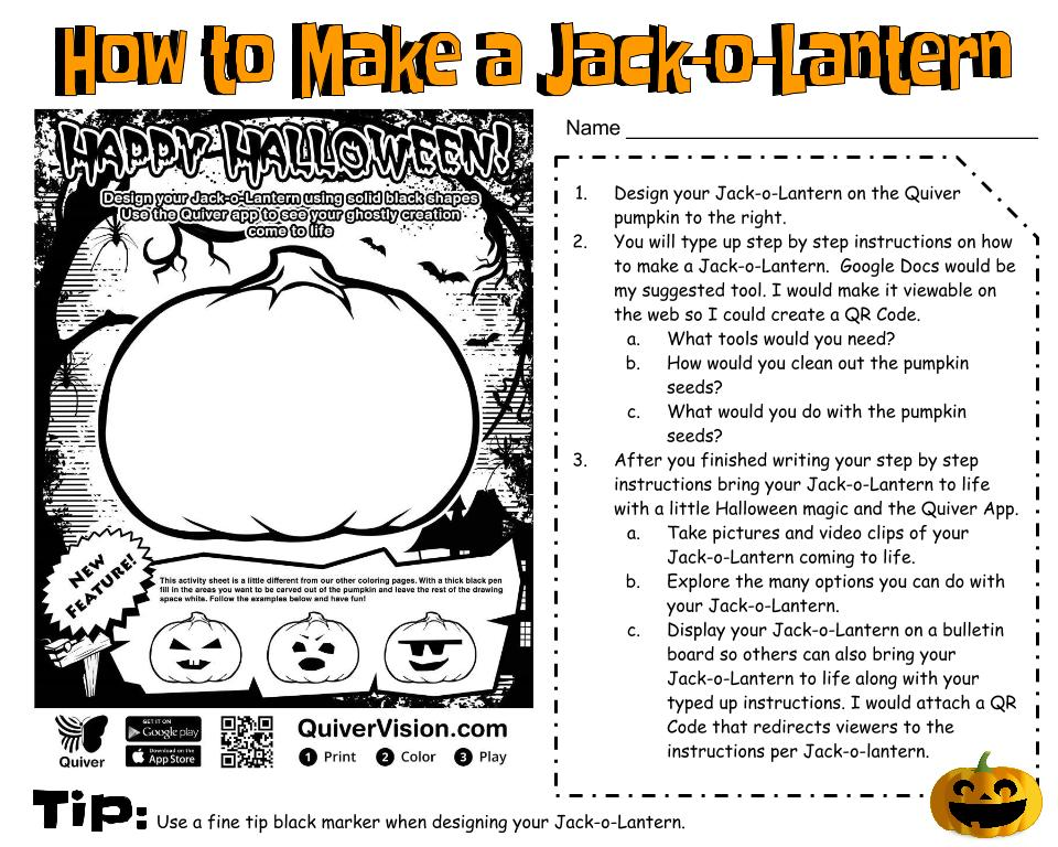 Diary Of A Techie Chick Making Augmented Jack O Lanterns Via Quiver