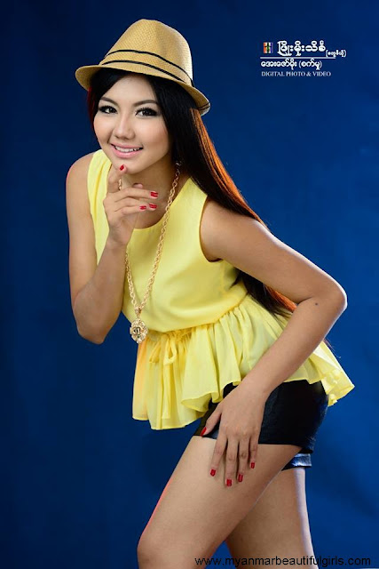 may myint mo with attractive pose