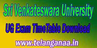 Sri Venkateswara University UG Exam TimeTable