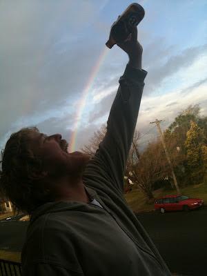 Bier Regenbogen lustig