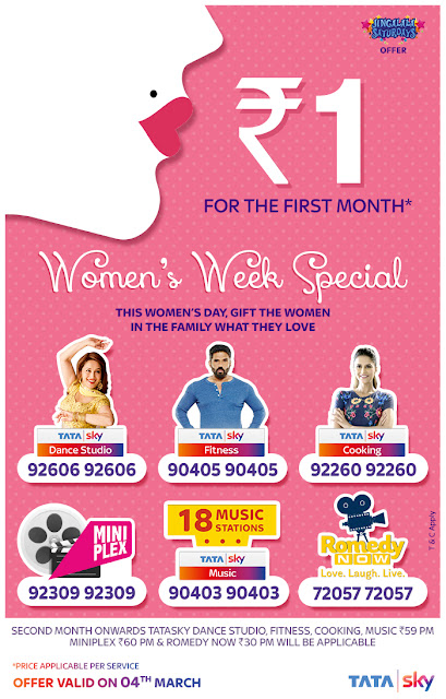 Tata Sky to celebrate Women's Week with Special Programming & Discounts