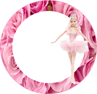 Barbie Princes Ballerina Toppers or Free Printable Candy Bar Labels.