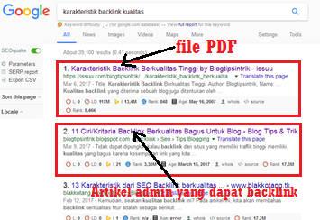 Bukti dokumen PDF ISSUU bisa muncul dihalaman utama