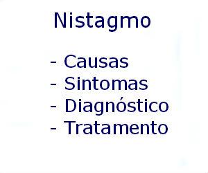Nistagmo causas sintomas diagnóstico tratamento prevenção riscos complicações