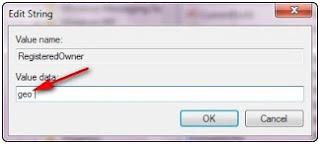 Cara mengganti nama pemilik komputer (owner) di windows 7