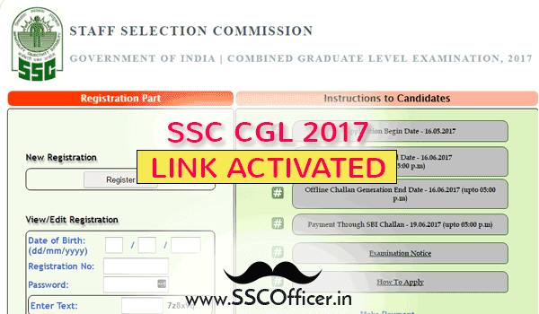 SSC CGL 2017 Apply Now - Link Activated - SSC Officer