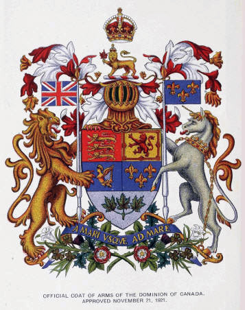 Official Coat of Arms of the Dominion of Canada