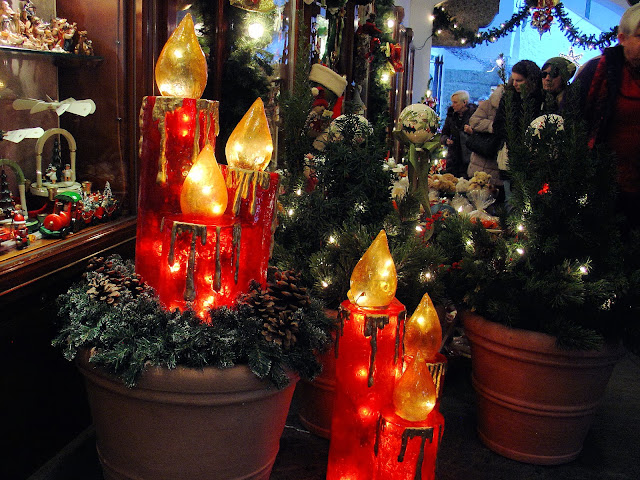 Christmas display outside one of the shops in Salzburg, Austria.