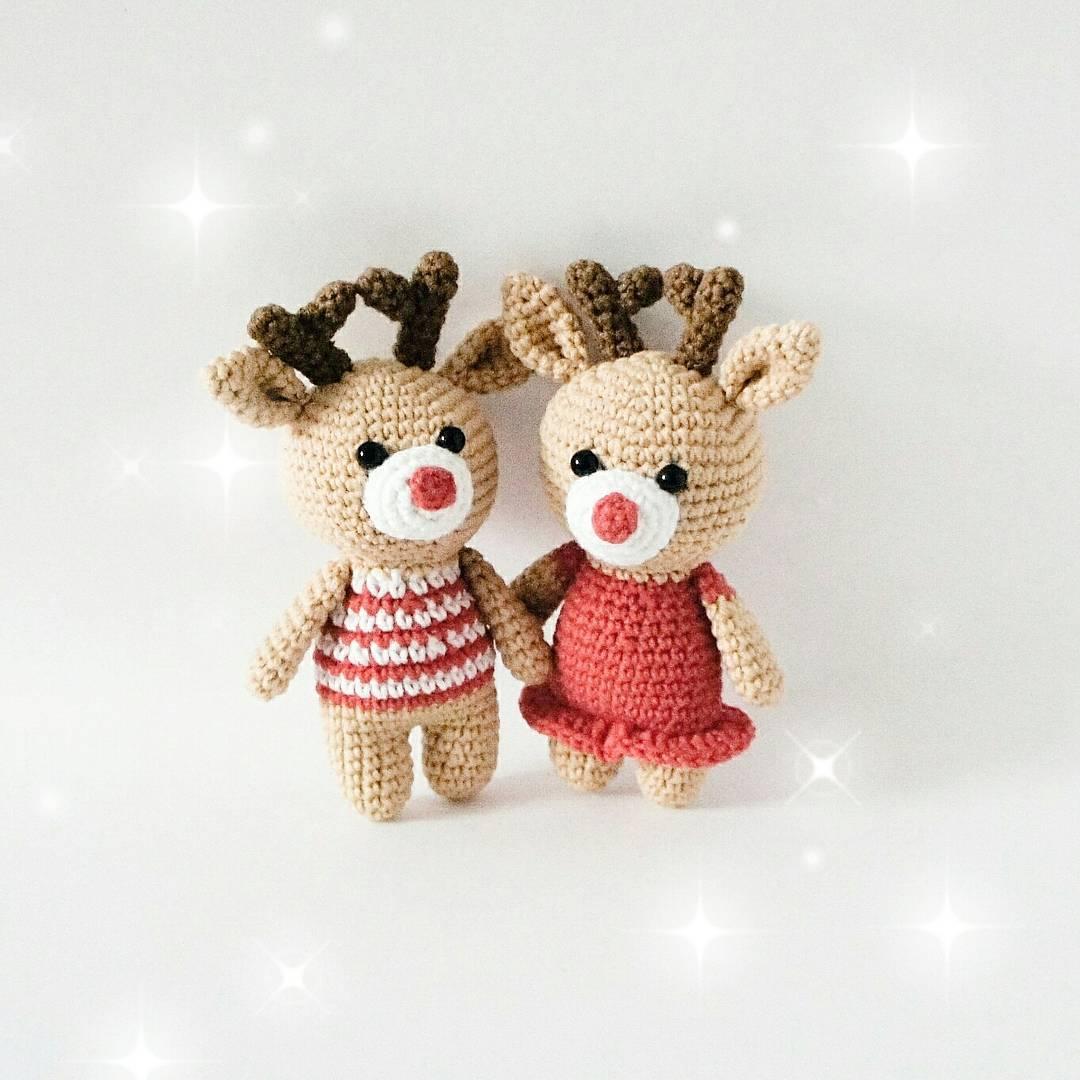 Crochet reindeers amigurumi