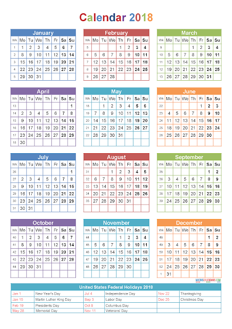 Yearly Calendar 2018, Yearly 2018 Calendar Printable, 2018 Yearly Calendar, 2018 Calendar Yearly, 2018 Yearly Holiday Calendar