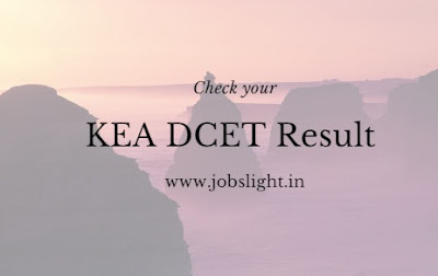 KEA DCET Exam Result 2017