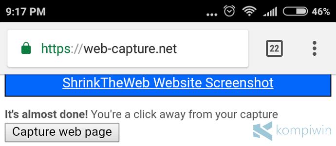 ambil screenshot secara penuh di android
