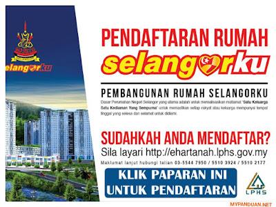 Borang Daftar Permohonan Rumah Selangorku Online