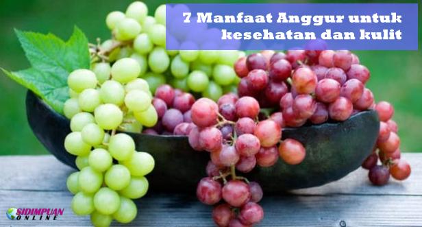 7 Manfaat Buah Anggur Untuk Kesehatan Dan Kulit