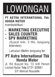 PT. Astra Internasional, Tbk