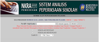 Sema keputusan SAPS sekolah menengah