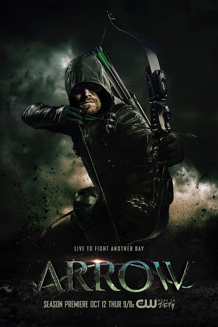 "Póster de la sexta temporada de ""ARROW"""