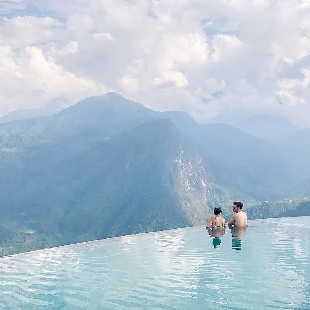 "Relax with the unique ""pool on the mountain"" in Sapa 2"