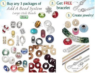 How to make easy bracelets and necklaces with the large beads in the Add a Bead Jewelry Kits