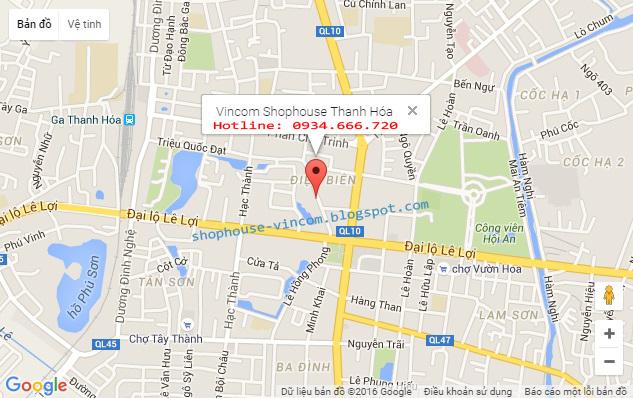 Vị trí Vincom Shophouse Thanh Hóa