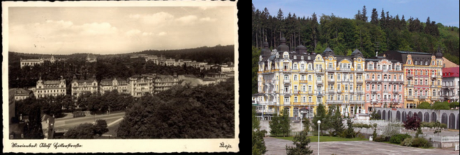 Adolf-Hitler-Straße then and now