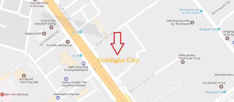 Chung cư Goldlight Complex City 168 Khuất Duy Tiến sở hữu vị trí vô cùng đắc địa