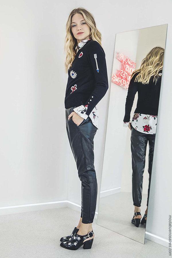 Moda pantalones de mujer otoño invierno 2018 ropa de mujer.