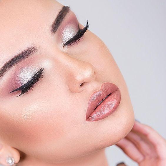 Ideias de maquiagem nude noivas