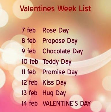 Valentines Week List 2017 Dates, Schedule