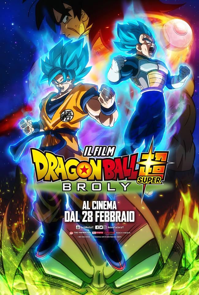 il poster ufficiale italiano di DragonBall Super Broly