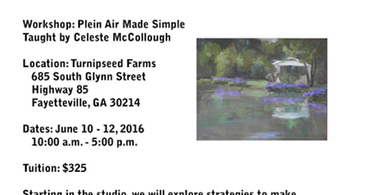 New Plein Air Made Simple Workshop -- June 10 - 12