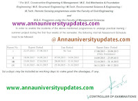 Anna University CT UT exam date 2015 2016