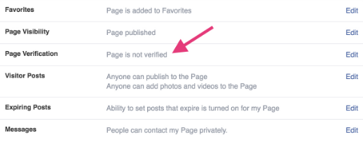 how to make your facebook page verified