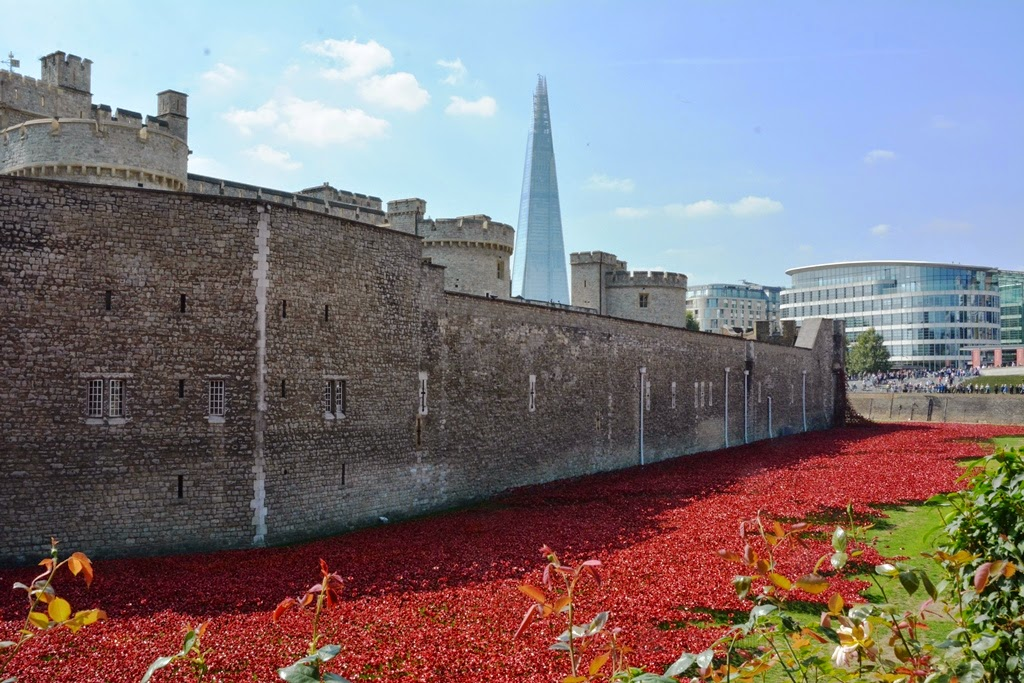 The Tower of London red seas of blood