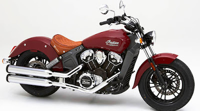 2016 Indian Scout Sixty Cruiser Motorcycle red color side look pose