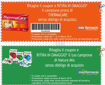Natura Mix e Thermacare coupon