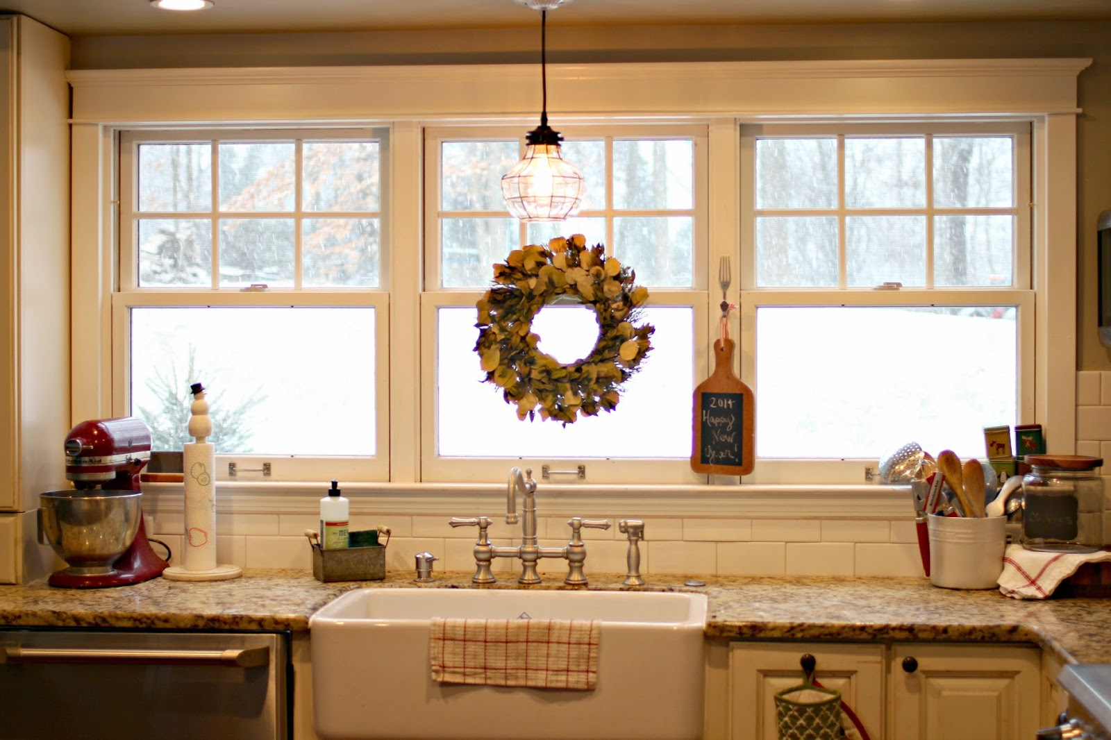 Over Kitchen Sink Lighting Ideas: Golden Boys And Me: Winter In Our Kitchen