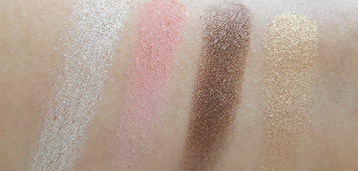 Swatches: L´Oréal Paris Lidschatten Nude - Matte - Smoky & Highlighter L´Or