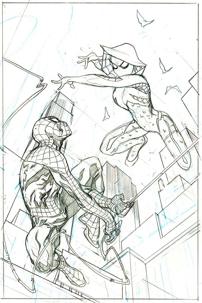 The Bombshellter: Spider-Gwen #14 Cover Step by Step Part