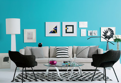 relaxing paint colors for living room cyan color scheme