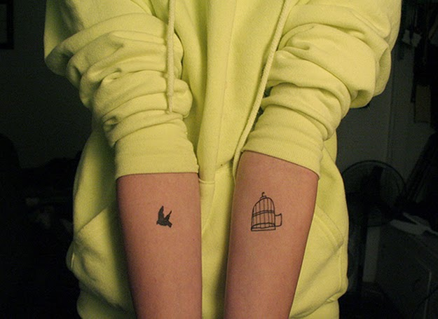 Bird Prison Tattoo for boys and girls