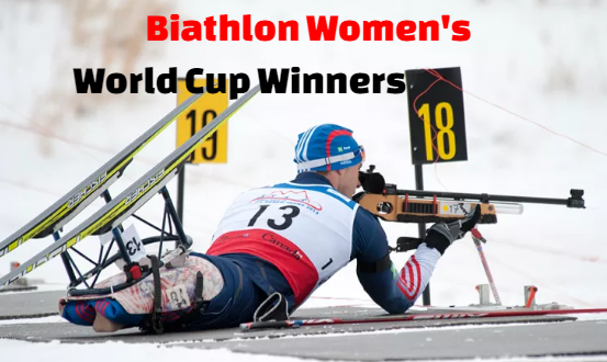 Women's Biathlon World Cup, winners-champions, gold medal.