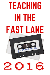 The top ten 2016 blog posts from Teaching in the Fast Lane as chosen by you, the reader!