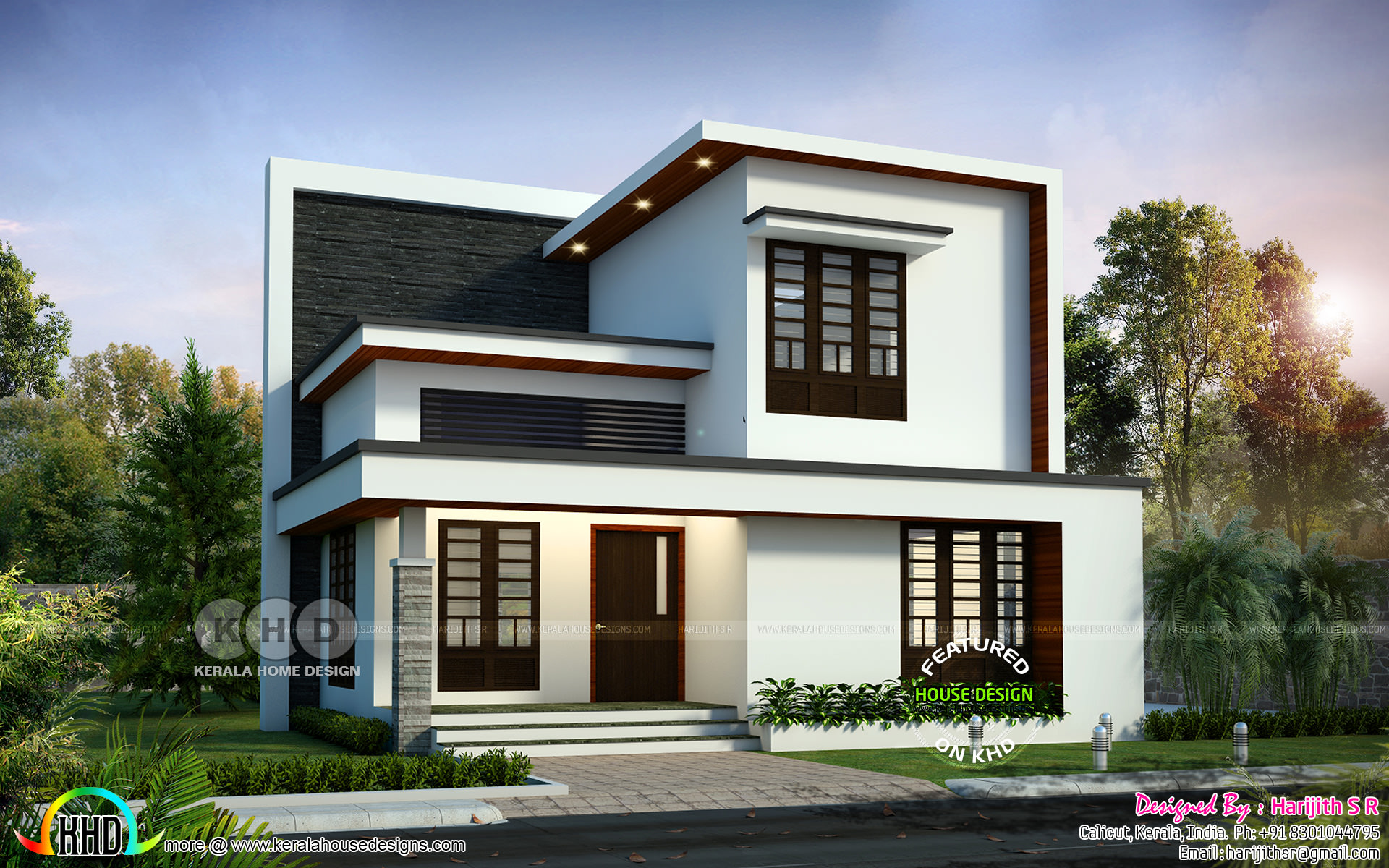 Simple Modern 4 Bedroom 1992 Sq Ft House Design Kerala