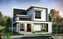 Simple Modern 4 Bedroom 1992 Sq-ft House Design Kerala