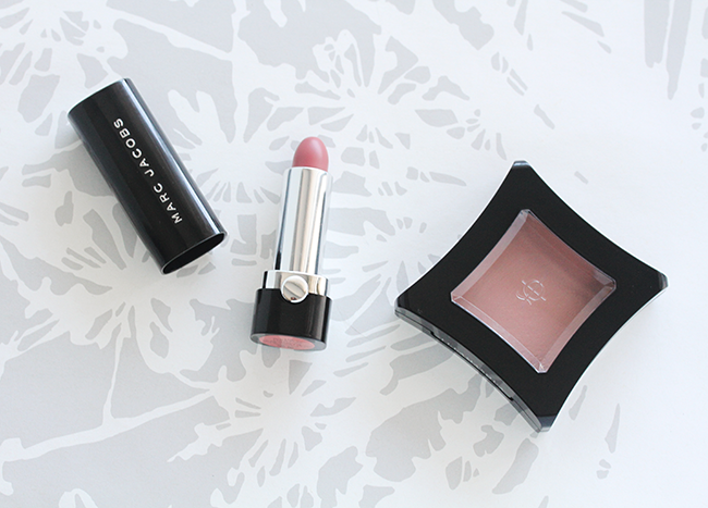 marc jacobs beauty lovemarc lip gel role play, illamasqua zygomatic cream blush